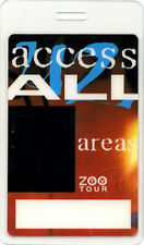 U2 1992 Zoo Tv Laminated Backstage Pass All Access