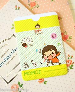 Cartoon Card Holder cute Sing Momoi Girl bank card bus pass protector gift idea