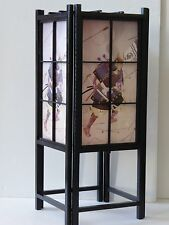 "SAMURAI Warrior Black Wood Frame Shoji Tatami 18"" Table Lamp"