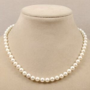 """Single natural cultured fresh water pearl 8-9mm white black pink necklace 18"""""""