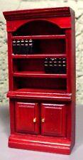 Cherry Bookcase Miniature 1/24 Scale G Scale Diorama Accessory Item
