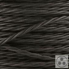 Textilkabel Stoffkabel Lampenkabel Stromkabel Kabel schwarz 3-adrig Verseilt