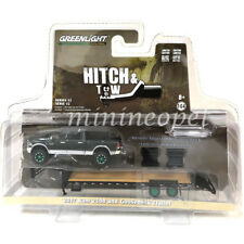 GREENLIGHT 32120 HITCH & TOW 2017 DODGE RAM 2500 & GOOSENECK TRAILER 1/64 Chase