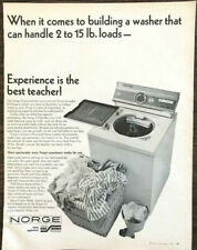 1964 Borg Warner Norge 15 Washer Print Ad Experience is the Best Teacher