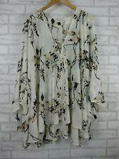 Shona Joy Kaftan dress White, black, beige print Sz M V-neck