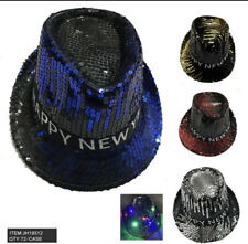 Lot of 6 pcs LED Light Up Happy New Year Hat Party Accessory Festival New Year