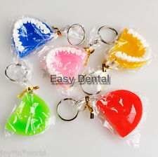 5pcs Key Chain Ring Tooth for Dentist Cell Phone Dental Clininc Gift Jaw Mixed
