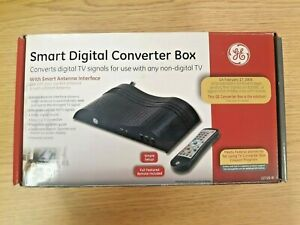 GE SMART DIGITAL CONVERTER BOX 22729 SMAET ANTENNA TV