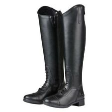 Saxon Syntovia Tall Field Riding Boots with Elastic Stretch Panel Black Ladies