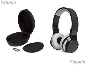 Foldable Collapsible Wireless Headphones with Zip Leather Carrying Case (REVL)
