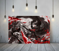 ATTACK ON TITAN 6 -DEEP FRAMED CANVAS ANIME WALL ART PICTURE PAPER PRINT- BLACK