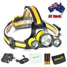 BORUiT Rj-3000 Plus 3xxm-l T6 Rechargeable Mirco Headlamp Headlight Torch 18650