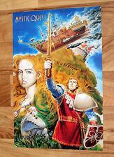 1993 Mystic Quest Final Fantasy Mystic Quest Rare Retro Poster 42x28cm SNES...