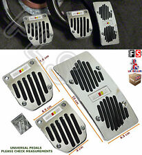 3pcs UNIVERSAL MANUAL CAR FOOT PEDAL PAD COVER NON SLIP ALUMINIUM–VW 1
