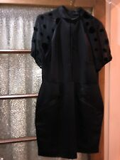 Fearne Cotton Black dress 2 Faux Pockets Net Type Sleeves Size 14