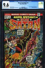 MARVEL SPOTLIGHT #12 - CGC-9.6, OW-W - Origin Son of Satan - Series begins