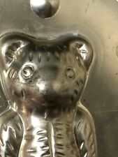 Vintage Teddy Bear #16404 Metal Chocolate Mold with Clips