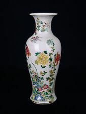 Chine Ancien vase en porcelaine de la famille rose d'un prunier Antique China