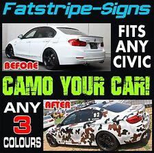 HONDA CIVIC EP3 GRAPHICS CAMO STICKERS DECALS CAMOUFLAGE STRIPES TYPE R S VTEC