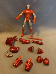 1995 Iron Man Hologram Armor with Power Missile Launcher, Toy Biz, Marvel