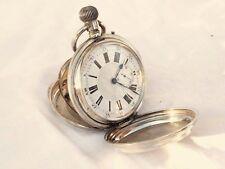 Imposante montre gousset savonnette en argent JAIME TRILLA ø 8cm fin XIXé N°727