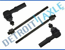 NEW 4 Pc. Front Inner and Outer Tie Rod End Set for 02-05 Dodge Ram 1500