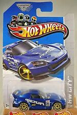 2013 Hot Wheels #21 HW City-Night Burnerz HONDA S2000 Blue Variant w/Yellow 10Sp