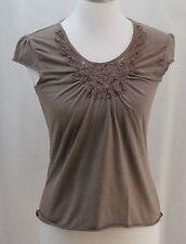 Merona, Small, Sepia Knit Top
