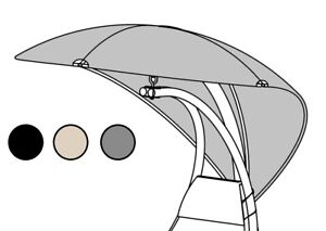 HELICOPTER DREAM CHAIR SWING HAMMOCK REPLACEMENT SPARE CANOPY GREY BLACK BEIGE