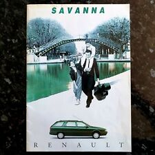 Renault 21 Savanna & Family 1993-94 UK Market Sales Brochure 1.7 2.0 1.9D RT