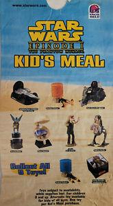 Taco Bell 1999 Vtg Star Wars Episode 1 Movie Lucas Empty Kids Happy Meal Bag