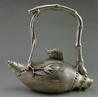 China manually collecting old Tibet silver bamboo, bamboo shoots the teapot
