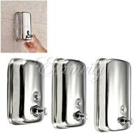 500/1000ml Stainless Steel Wall Mounted Lotion Pump Soap Shampoo Dispenser