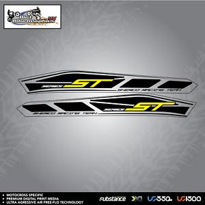Sherco ST 14 Swingarm Black On Clear Decal Sticker Trials (604)