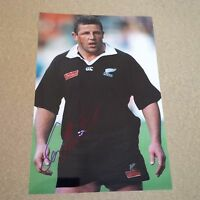 SEAN FITZPATRICK RUGBY player ALL BLACKS IN-PERSON signed photo 8 x 12 autograph