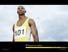 Running Sprinter WHATEVER IT TAKES Motivational Inspirational Track Field Poster