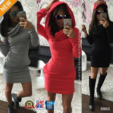 Spring Long Sleeve Dresses for Women with Hooded