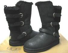 UGG BECKET WOMEN SHORT BOOTS LEATHER BLACK US 5 /UK 3.5 /EU 36 /JP 22