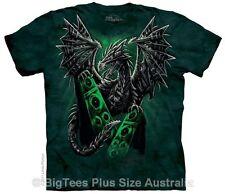 Electric Dragon Fantasy Art T-Shirt - BigTees - Label USA 5XL (Fits AUST 8-9XL)
