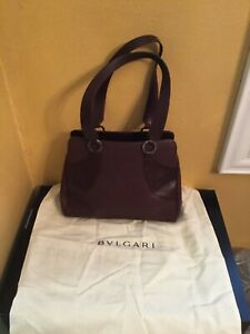 Authentic BVLGARI Brown Leather Purse Excellent!