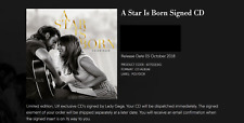 Lady Gaga (Signed Autographed) * A STAR IS BORN CD COVER *PRE ORDER* Brad Cooper