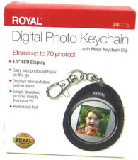 "Royal Digital Picture Keychain 1.5"" LCD Display up to 70 Photos Time Date Alarm"