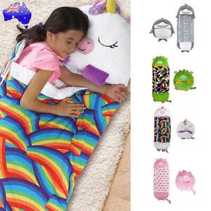Happy-Nappers Sleeping Bag Kids Boys Girls Play Pillow Unicorn Shark Cat Dragon