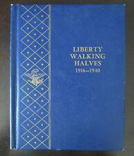 1916-1940 28 Silver Coins LIBERTY WALKING HALVES in No. 1 Whitman Album
