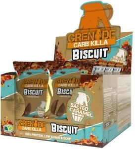 GRENADE CARB KILLER PROTEIN BISCUIT SALTED CARAMEL (BOX OF 24 IN 12 PACKETS)