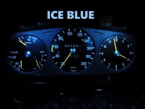 Gauge Cluster LED Dashboard Bulbs Ice Blue For Mercedes Benz 77 85 W123 Chassis