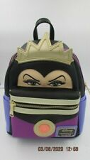 LOUNGEFLY X EVIL QUEEN MINI FAUX LEATHER BACKPACK PURSE BAG SNOW WHITE