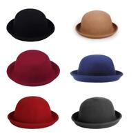 Fashion Retro Style Bowler Derby Hat Womens Ladies Wool Party Hat NEW
