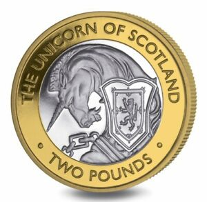 """2021 BIOT 2 pounds.""""QUEEN'S BEASTS"""" #7. THE UNICORN Of SCOTLAND. PROOF!"""