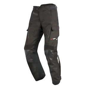 Alpinestars Andes Drystar V2 Mens Waterproof Textile Motorcycle Trousers Black